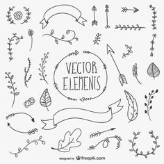 Drawn vector elements