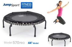 Buy JumpSport Fitness Trampoline Model 570 PRO for professional, long lasting quality on the biggest fitness trampoline. Get a high intensity, low impact workout today! Backyard Trampoline, Trampoline Workout, Fitness Trampoline, Trampoline Sale, Bounce Jump, Increase Bone Density, Low Impact Workout, High Intensity Interval Training, Intense Workout