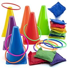 Bag Toss Game, Bags Game, Outdoor Party Games, Outdoor Parties, Outdoor Toys For Toddlers, Outdoor Games For Kids, Bean Bag Games, Kids Obstacle Course, Ring Toss