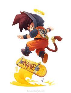 Fanart of my fav characters from childhood Arale and Son Goku by Akira Toriyama and Astroboy by Osamu Tezuka