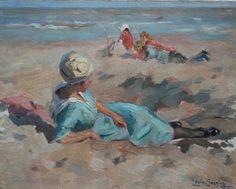Louis Soonius, Zomerdag op het strand, olie op board x cm . Beach Scenery, Social Art, Sand And Water, Dutch Painters, Old Paintings, Beach Art, Yahoo Images, Four Seasons, Art Tutorials