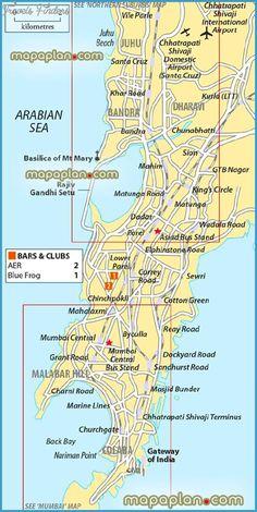 Mumbai Map Tourist Attractions - http://travelsfinders.com/mumbai-map-tourist-attractions.html
