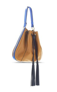 Shop Shell And Sandy Small Tassle Hobo Bag. This tri-tone calf leather **Marni** hobo bag features a stud buttoned doubled flat shoulder strap, gold plated detail along the sides and fringe ends at the drawstring. Women Bags, Baggage, Satchels, Hobo Bag, Marni, Purses And Handbags, Sling Backpack, Bag Accessories, Clutches