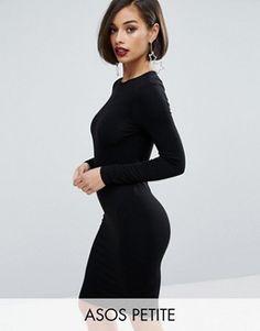 ASOS PETITE Long Sleeve Bodycon Midi Dress