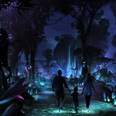 Magnificent floating mountains over Pandora – The World of Avatar at Disney's Animal Kingdom park