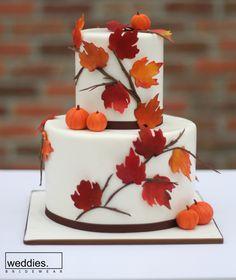 fall wedding cake by erica obrien cake design Pumpkin Wedding Cakes, Autumn Wedding Cakes, Themed Wedding Cakes, Wedding Cake Flavors, Amazing Wedding Cakes, Wedding Cakes With Cupcakes, Themed Cakes, Autumn Cake, Cake Wedding