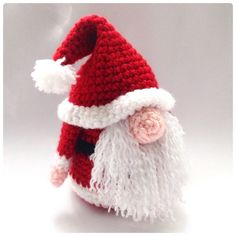 Santa Gonk Christmas Decorations Crochet Pattern