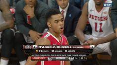 D'Angelo Russell - Triple double vs. Rutgers 2015 Osu Basketball, Buckeyes, Freshman, Ohio, Baseball Cards, Sports, Hs Sports, Columbus Ohio, Sport