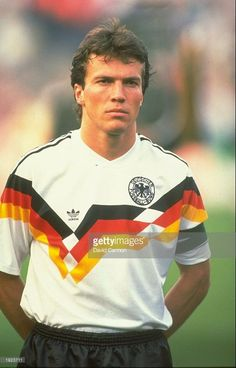 Lothar Herbert Matthäus (b. 1961) is a German former footballer. After captaining West Germany to victory in the 1990 FIFA World Cup where he lifted the World Cup trophy, he was named European Footballer of the Year.