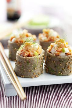 Sushi de crêpes de sarrasin