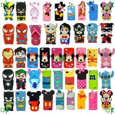 Cartoon Superhero Soft Silicone Rubber Case Cover For Apple iPhone 6 Ipod Touch Cases, Bling Phone Cases, Disney Phone Cases, Ipod Cases, Diy Phone Case, Cute Phone Cases, Iphone Phone Cases, Iphone 4, Accessoires Iphone