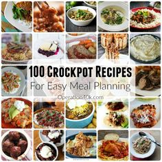 Crockpot Recipes are ideal for Meal Planning! Everyone loves an easy meal, and this list includes great Crockpot recipes for every food you love!