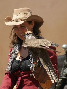 cowgirls and falconry