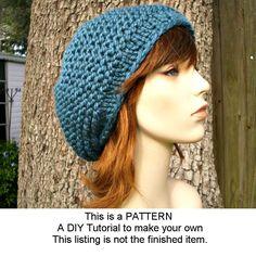 Knitting Pattern - Knit Hat Knitting Pattern - Knit Hat Pattern for The Tribeca Beret - PDF Pattern Womens Hat. $5.00, via Etsy.