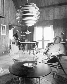 Poul Henningsen in his living room