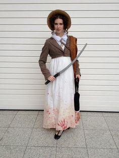 Pride and Prejudice and Zombies costume. Full of Win!