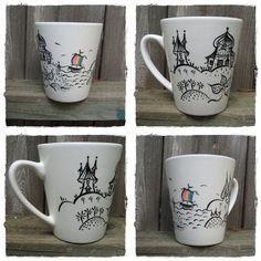 Handpainted Ceramic Coffee Mug  / Decorative