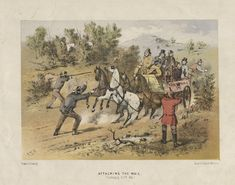 Attacking the Mail (Bushranging, N.S.W. 1864); S. T. Gill (1818-1880)