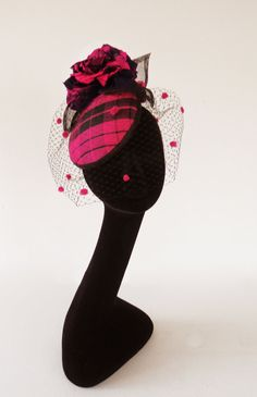 Dutch design black and fuchsia tartan silk by MarcusArtandFashion