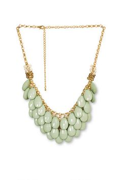 Teardrop Necklace in Green available at Francesca's Collections! 3 great Gwinnett locations to serve you! (Mall of Georgia in Buford, Avenue at Webb Gin, The Forum on Peachtree Parkway)