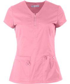 Koi Stretch Scrubs Mackenzie Top - S - True Ceil Cute Scrubs Uniform, Scrubs Outfit, Stylish Scrubs, Koi Scrubs, Womens Scrubs, Scrub Pants, Costume, Darts, Stretch Fabric