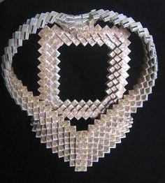 FOLK Art Tramp Woven Cigarette Pack Ornate HEART by Flipsville, $135.00