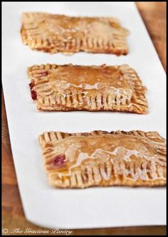 Clean Eating Pop Tarts  www.TheGraciousPantry.com