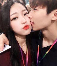 Imagen de couple, korean, and ulzzang