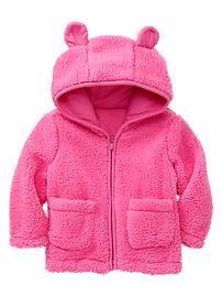 Sherpa bear hoodie