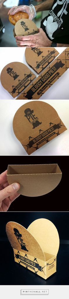 Hand Held Pie Packaging by Zebra paper