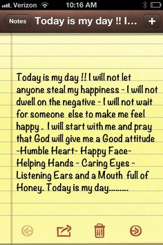 Today is my day ...