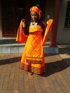 Xhosa Traditional Wear African Wedding Dress, African Print Dresses, African Dresses For Women, African Wear, African Attire, African Fashion Dresses, African Women, African Prints, Ghanaian Fashion