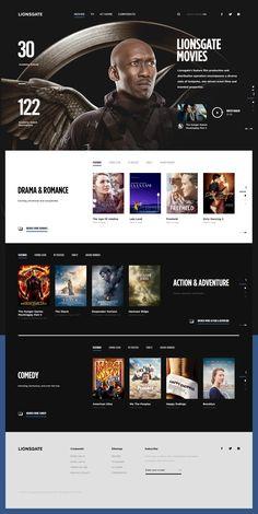 Lionsgate Movies Index on Inspirationde - animation branding editorial intro lionsgate movies Website Design Inspiration, Website Design Layout, Homepage Design, Design Blog, Web Design Company, Web Layout, App Design, Layout Design, Design Websites