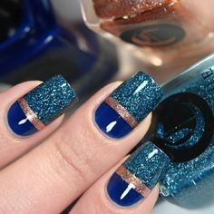 Glitterfinger Lexa — Closer look of this weeks manicure. Manicure, Gel Nails, Nail Polish, Cool Nail Designs, Acrylic Nail Designs, Stylish Nails, Trendy Nails, Pretty Nail Art, Fancy Nails