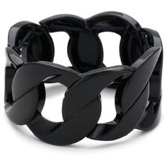 Amazon.com: Juicy Couture Powder Coat Stretch Chain Black Cuff Bracelet: Jewelry