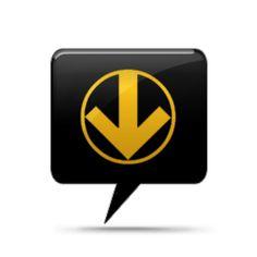 Circled Down Arrow Icon #007887 » Icons Etc