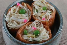 Somen Salad in Inari Tofu Packets (Food Librarian) by Food Librarian, via Flickr