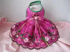 Dog Dress Small Purple with purple   embroidery by afrodytka1224, $24.99