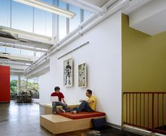Facebook's brand new office space in Palo Alto, California from Studio O+A.