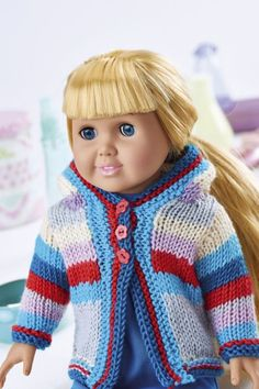 FREE PATTERN: knitted doll hoody
