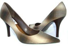 Nine West 'BARBE' Women's Shoes Size 10M Brown Multi Vintage Pattern Pumps