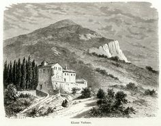 Monastery of Voulcano. - SCHWEIGER LERCHENFELD, Amand - TRAVELLERS' VIEWS - Places – Monuments – People Southeastern Europe – Eastern Mediterranean – Greece – Asia Minor – Southern Italy, 15th -20th century