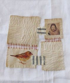 Art quilt patchwork embroidered stitched cloth by ColetteCopeland, $35.50