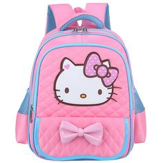b846907b5de Cute Cartoon Hello Kitty Backpacks Kids Satchel Children School Bags For  Girls Orthopedic Waterproof Backpack Mochila