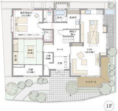 My House Plans, Japanese House, Floor Plans, Exterior, Flooring, How To Plan, Drawing, Architecture, Home