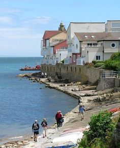 Swanage coast path on the Jurassic Coast in Dorset, England