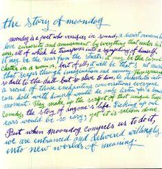 Warhol Handwriting