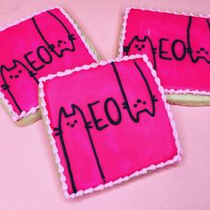 Cat Cookies, Fancy Cookies, Ginger Cookies, Biscuit Cookies, Royal Icing Cookies, Cupcake Cookies, Sugar Cookies, Best Cookies Ever, Cookie Designs