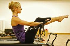 Pilates reformer teaser - no box!  Spinal flexion, arm differentiation, shoulder stabilization