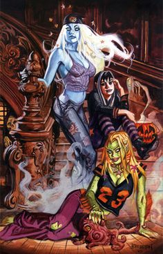 Nocturnals: Femmes on Stairs